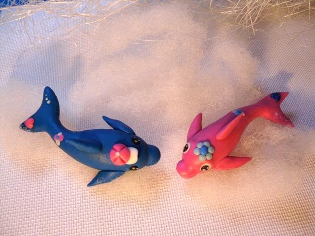 블루 & 핑크  돌고래 만들기