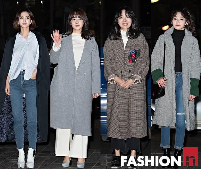[패션엔 포토] 한예슬·류현경·이상희, 봉고파 3인방의 오버핏 맥시 코트룩!