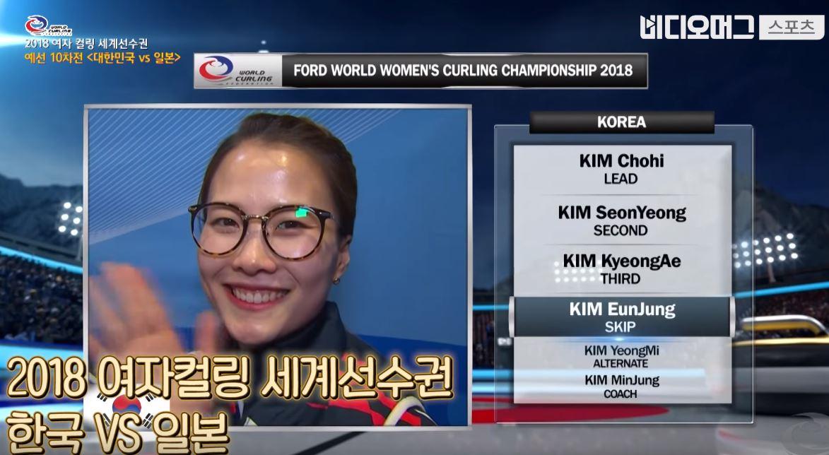 '팀킴'이 또... 세계선수권에서 한일전을 뒤집어 놓으셨다
