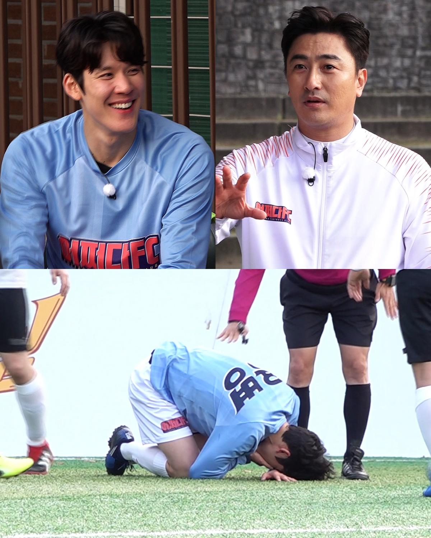 '뭉쳐야찬다' 박태환, 마구남FC 경기 중 부상 투혼…안정환 고정 제의도?