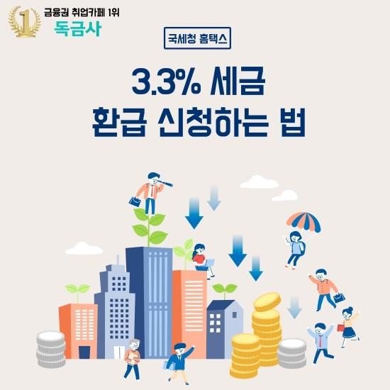 [종합소득세 환급] 알바생 주목! 3.3% 종합소득세 환급 신청하는 방법(완전 꼼꼼&상세)